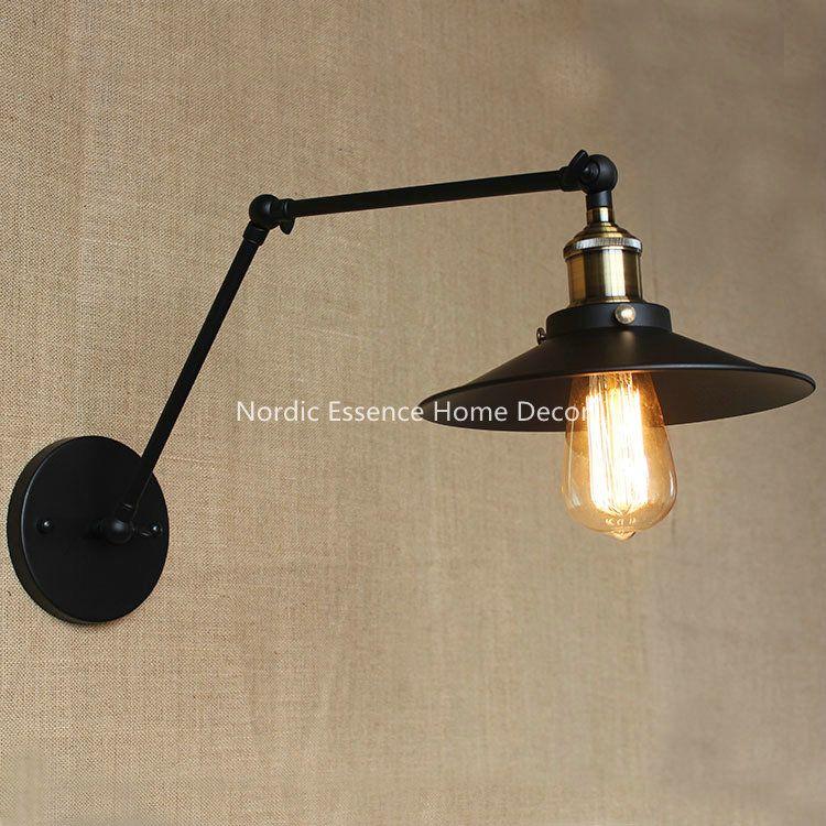 Industrial Retro Nostalgia Stretchable Long Arm Creative Type Magnificent Lamp Bedroom Design Decoration