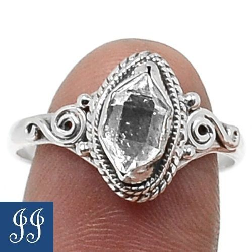s9-86570-HERKIMER-DIAMOND-GEMSTONE-925-STERLING-SILVER-RING-SIZE-9-JEWELRY