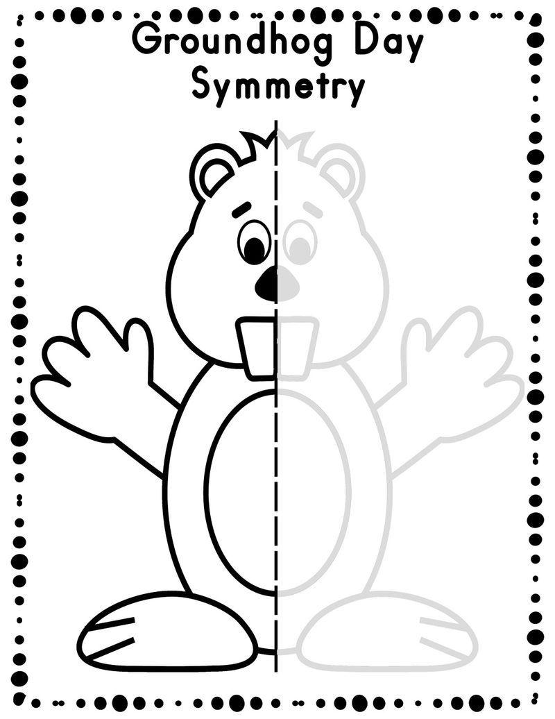 Draw Groundhog Day Worksheet [ 1036 x 800 Pixel ]