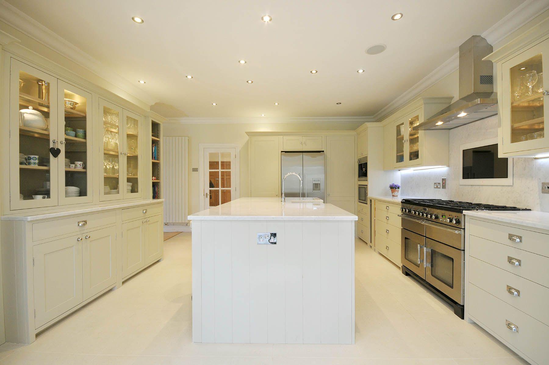 Neptune Kitchen Furniture Neptune Suffolk Kitchen In Dove Grey With Carrara Marble Tops