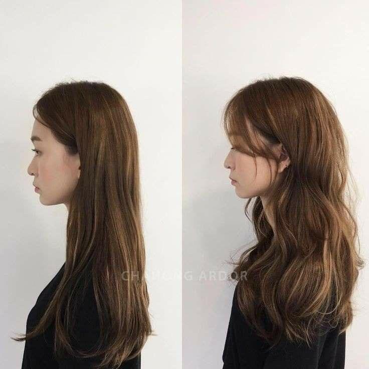 Pin By Chorvi On H A I R C U T E Korean Long Hair Korean Hair Color Asian Long Hair