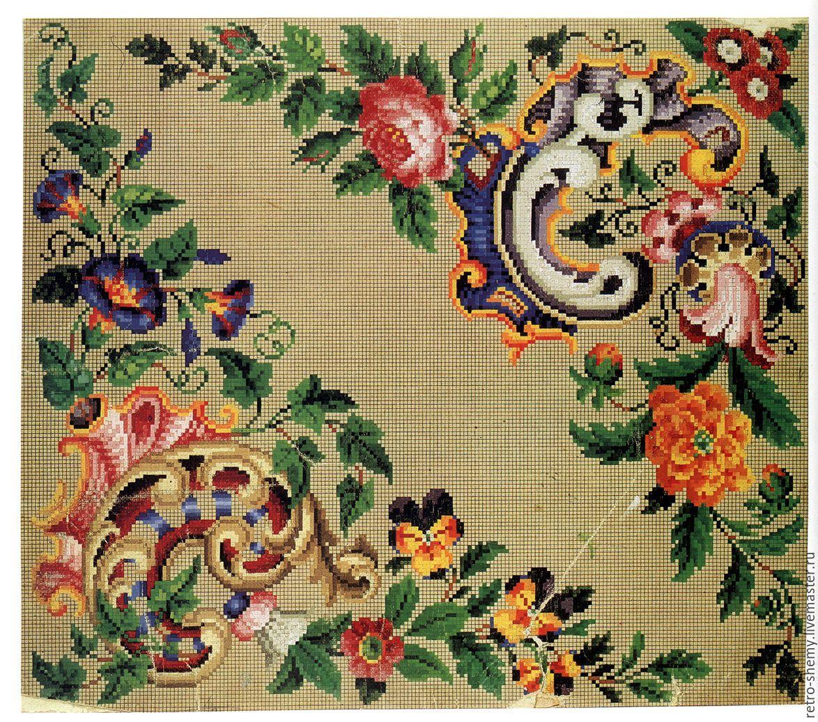 Afbeeldingsresultaat voor старинная вышивка крестом схемы.