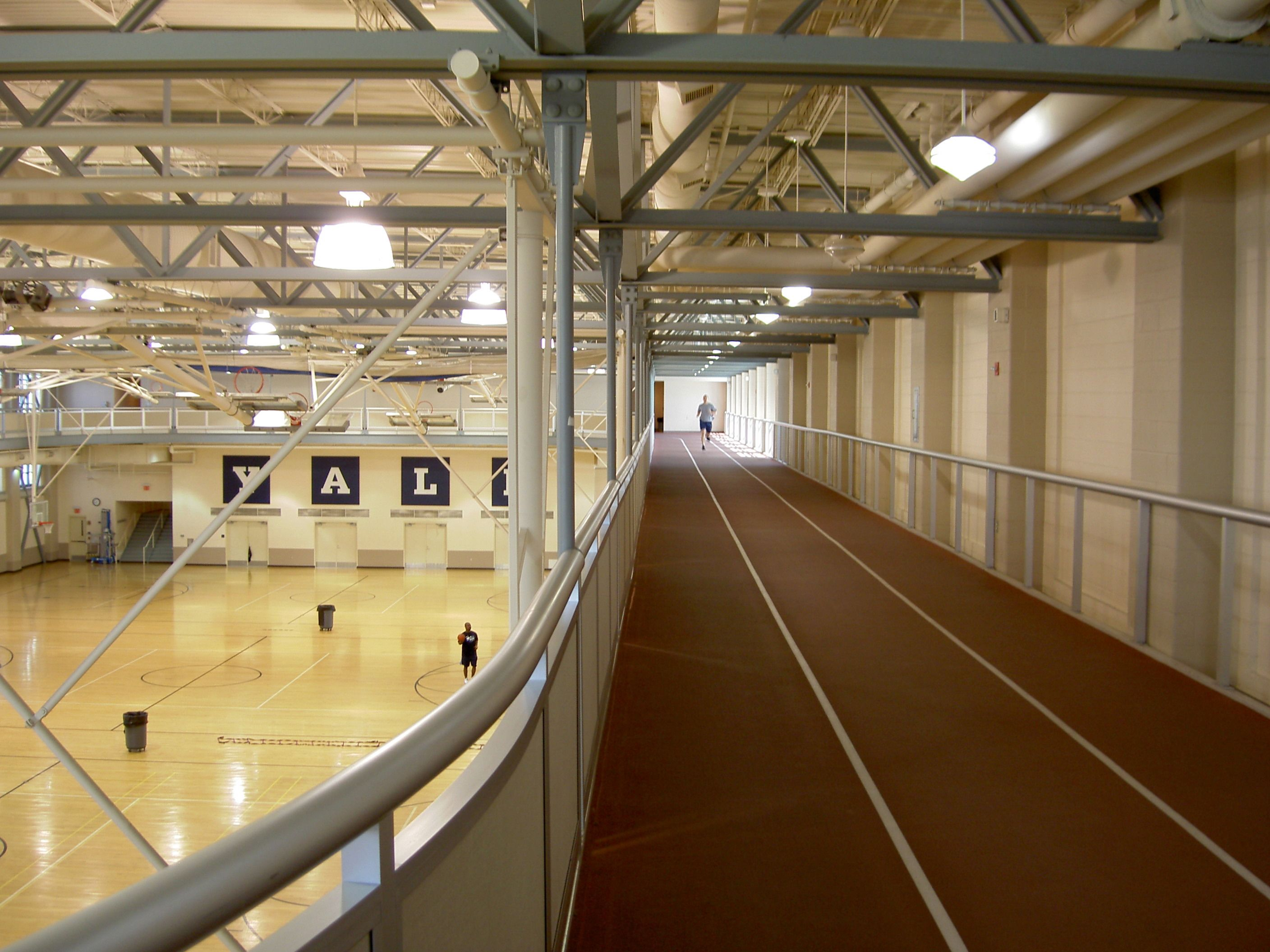 College Gyms Exterior Roof Architecture Metal Roof Wooden Terrace