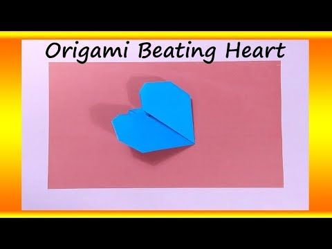 Beating Paper Heart Origami Pinterest Paper Hearts Origami