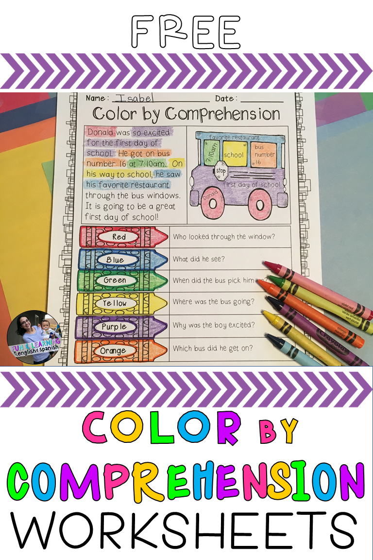Free Color By Comprehension Worksheets Comprehension First Grade Reading 2nd Grade Reading [ 1152 x 768 Pixel ]