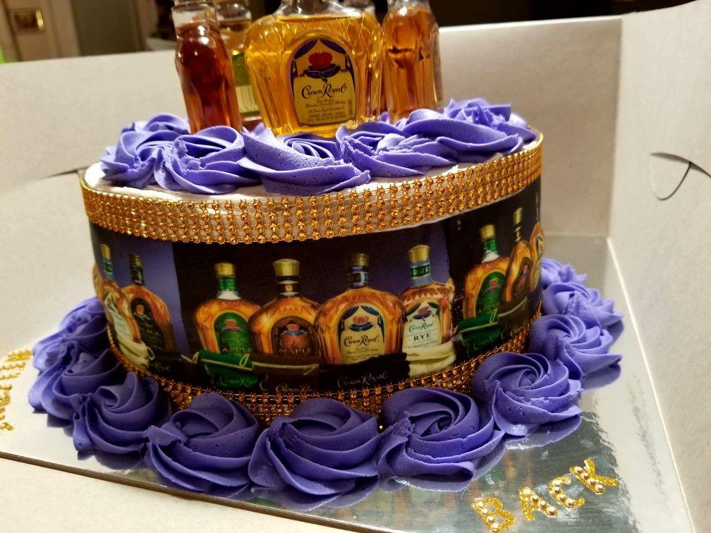 Crown Royal Gold Bling Cakenilla Cake With Vanilla