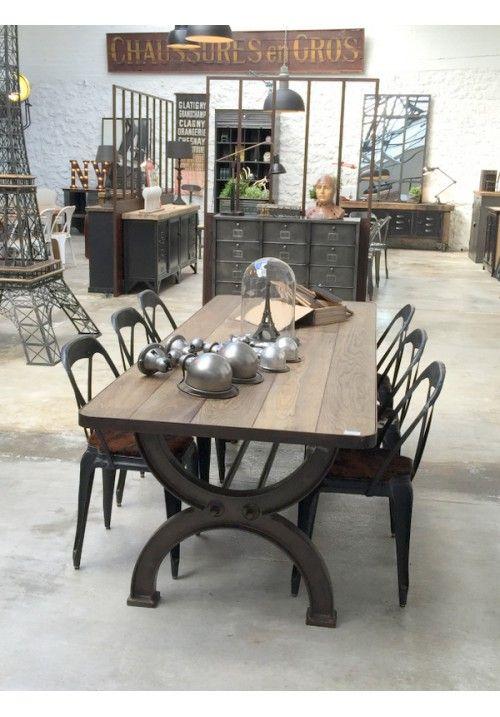 Mobilier Industriel Versailles Paris Table Industrielle Deco Style Industriel Table De Salle A Manger Bois