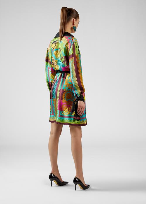 6f9a6e07 Voyage Barocco Print Silk Shirt Dress for Women   Online Store EU in ...