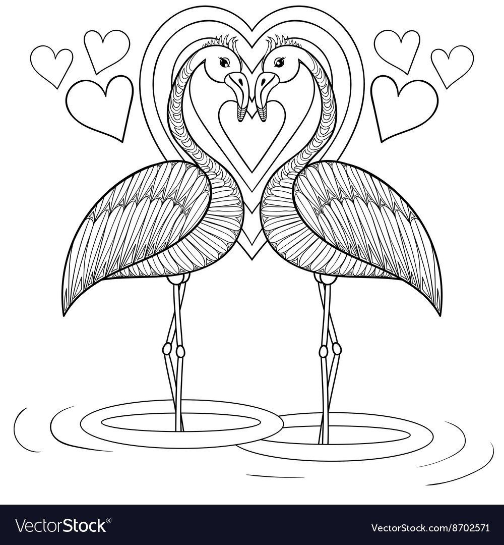 Flamingo Coloring Pages Flamingo Coloring Pages For Kids With
