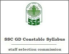 Ssc Gd Syllabus 2017 Here Download Latest Ssc Gd Constable Exam