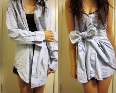 button-up= dress with bow <3