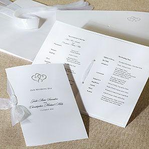 wedding bulletin platinum hearts deluxe wedding program kit Wedding Program Kit wedding bulletin platinum hearts deluxe wedding program kit two entwined hearts and a wedding program kit