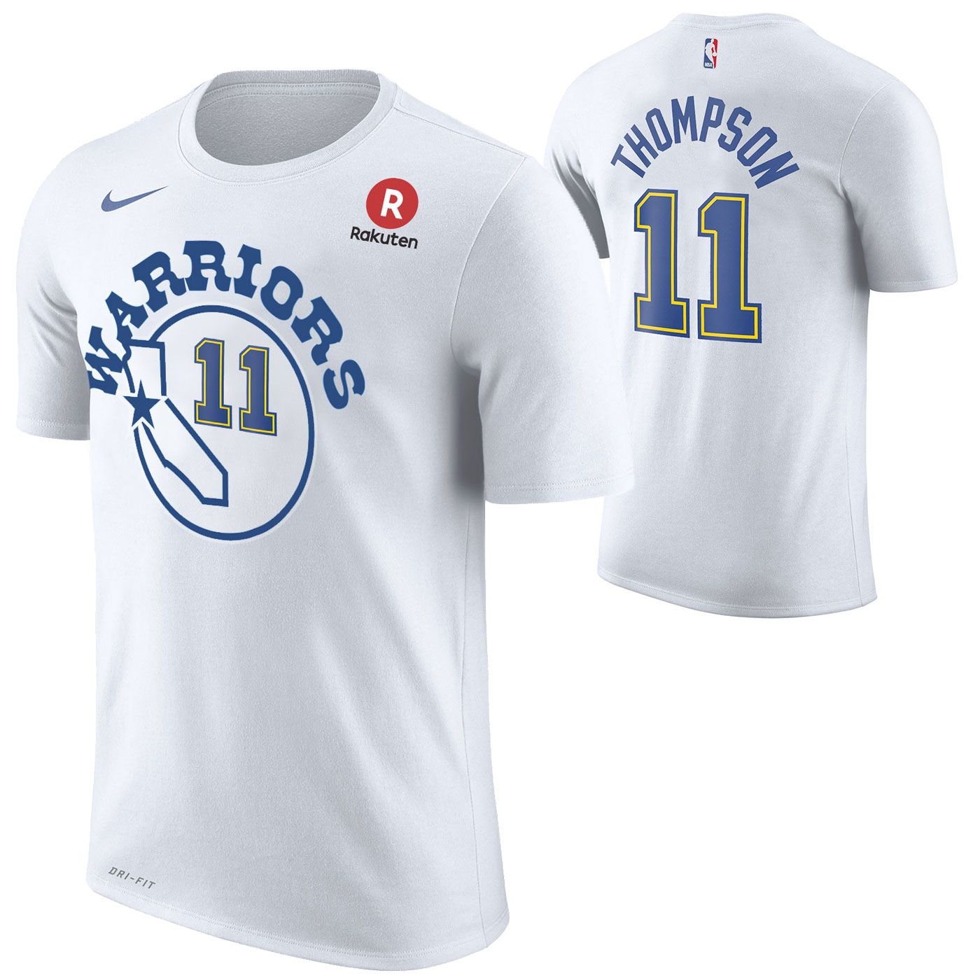 Golden State Warriors Nike Dri-FIT Men s Hardwood Classic Klay Thompson  11  Game Time Name   Number Tee - White 566164507