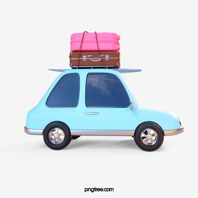 Self Driving Trip 3d Element Car On Vacation 3d Png Transparent Clipart Image And Psd File For Free Download Driving Trips Geometric Pattern Background Self Driving