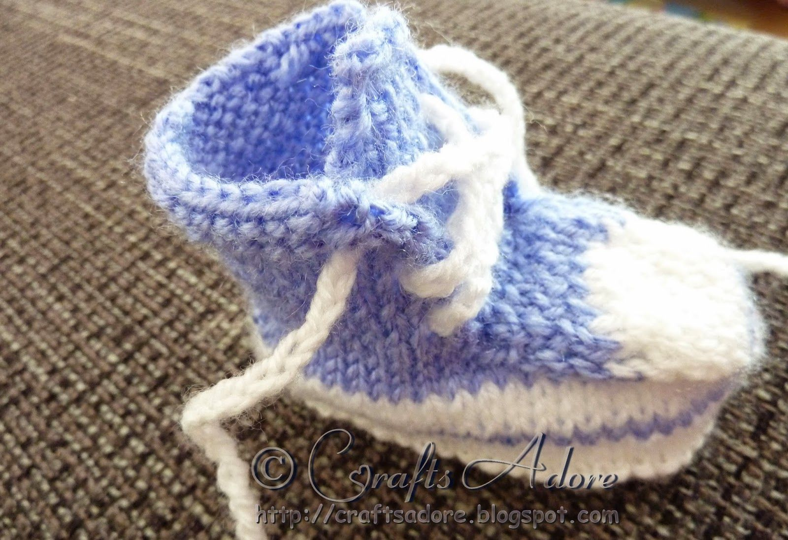 Knitted Baby Converse | Knitting -- Babies and Children | Pinterest ...