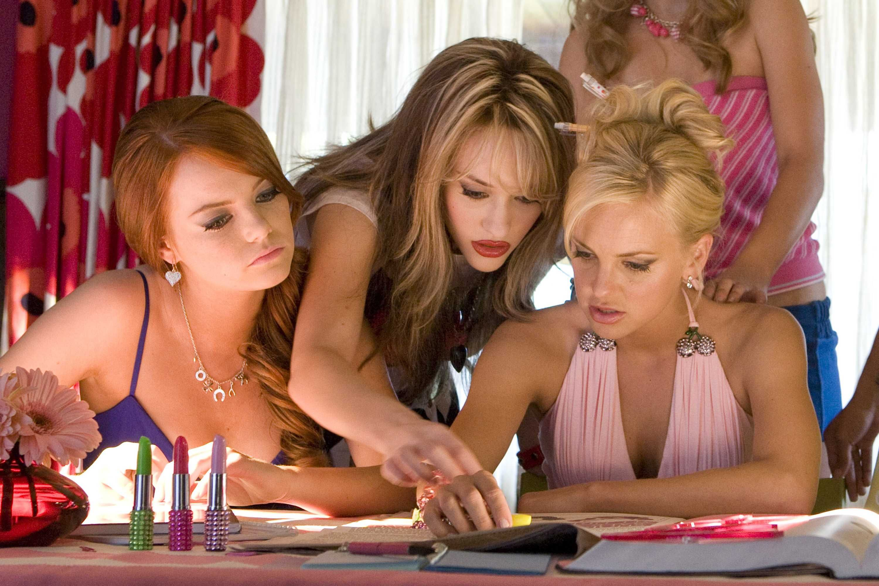 House Bunny Characters intended for emma stone as natalie, kat dennings as mona and anna faris as