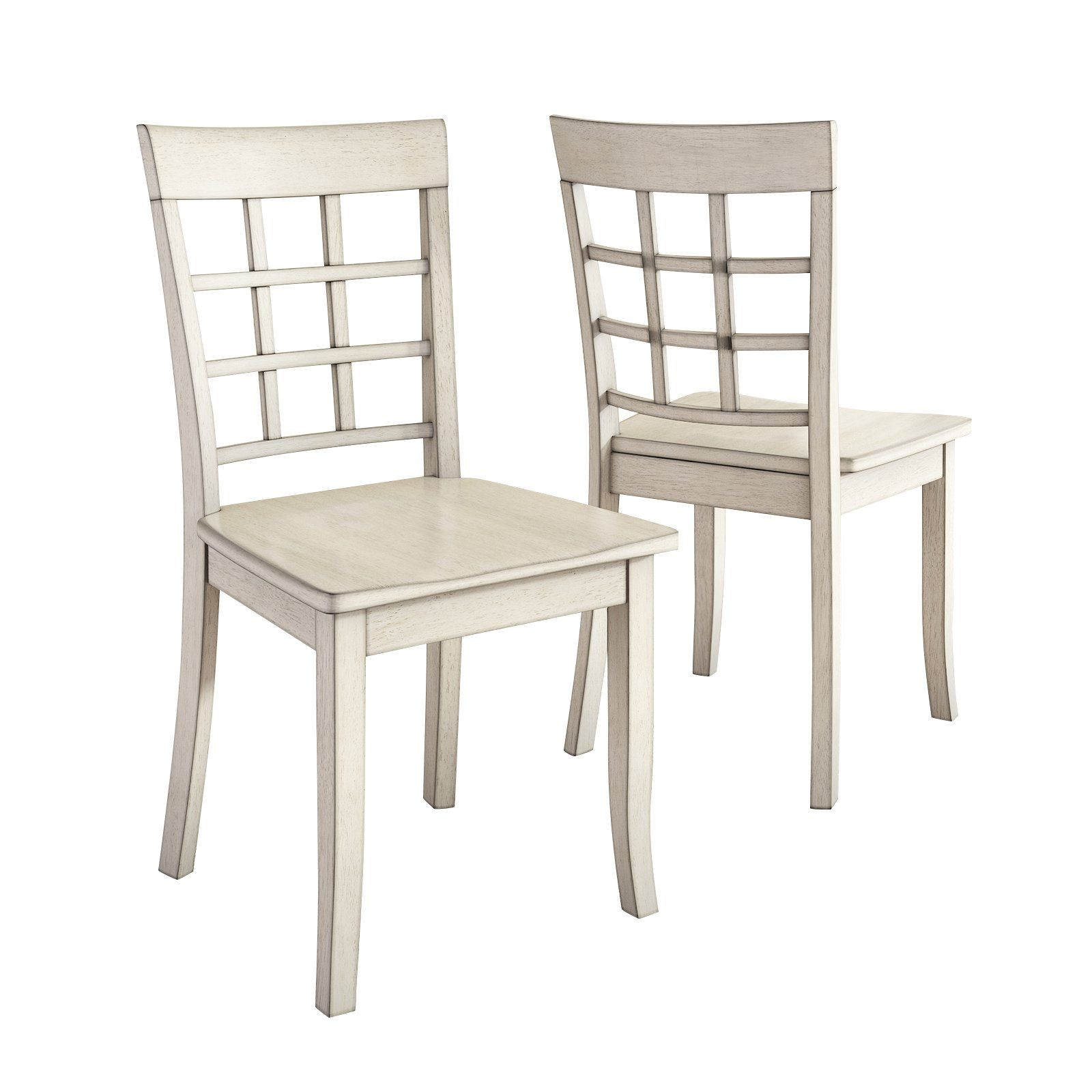 Window Back Dining Side Chair Set
