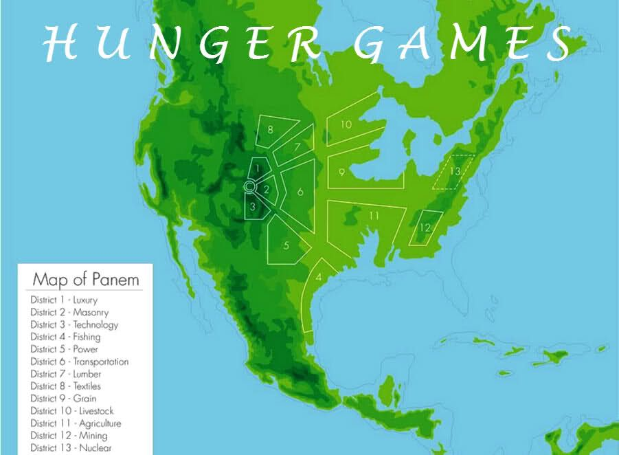 Best Future Maps Images On Pinterest Maps Us Navy And About - Hunger games us map