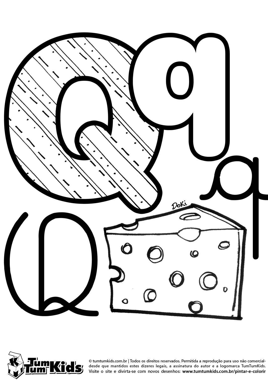 doki-alfabeto-letra-q-imprimir … | alfabetos | Pinte…