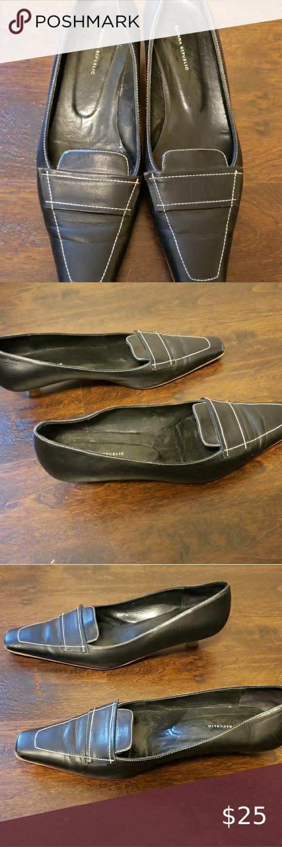 Banana Republic Women Black Dress Shoe Great Condition Very Comfortable Dress Shoe Small Heel Comfortable Dress Shoes Black Dress Shoe Shoes Women Heels [ 1740 x 580 Pixel ]