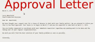 Letter Approval Leave Absence Certificate Sample Meccalte