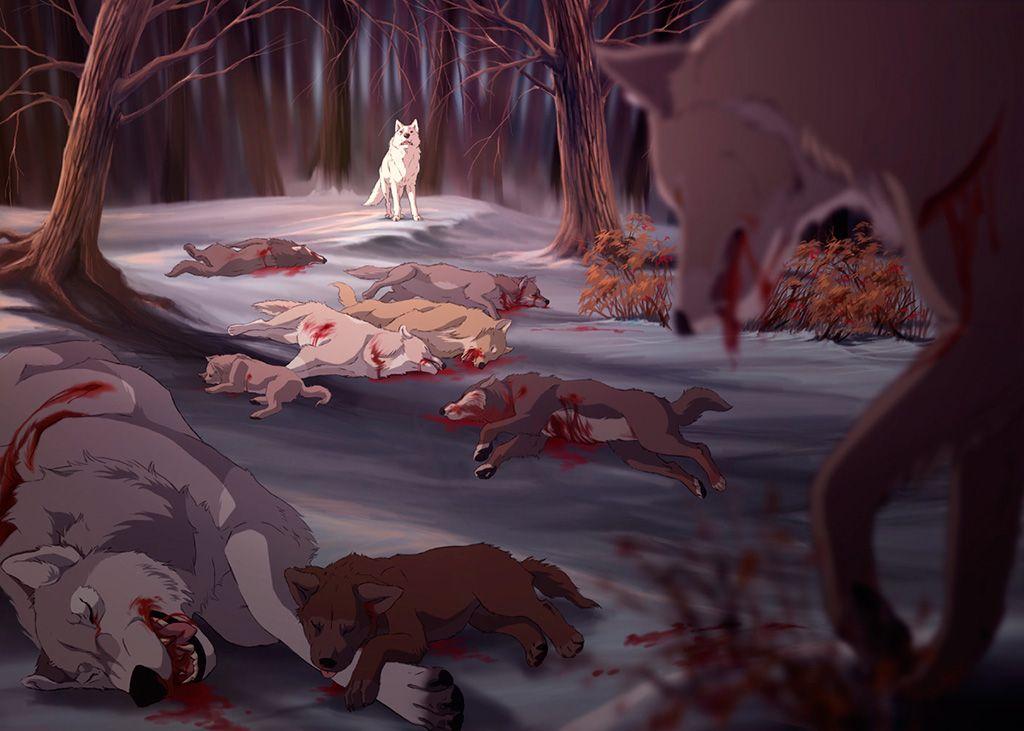 картинки раненых волков дал