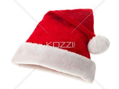 santa claus hat - Close-up shot of Santa Claus hat on white