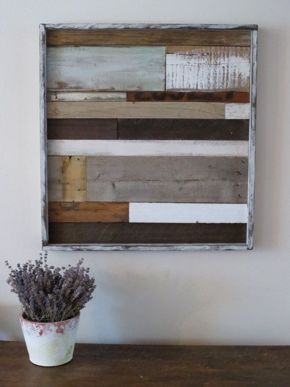 #Reclaimed Wood Art Rustic Wood Art Shabby Chic by #MyAlteredState