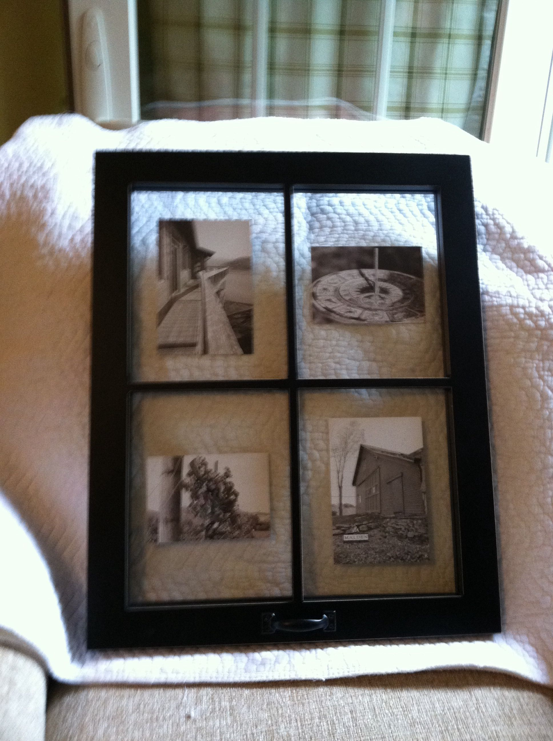 Window Picture Frame ( Kohl\'s ) Father\'s Day Gift | my house | Pinterest