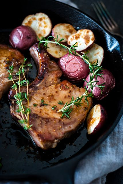 Simply So Good: Brined Pork Chops with Dijon Fig Glaze for Two