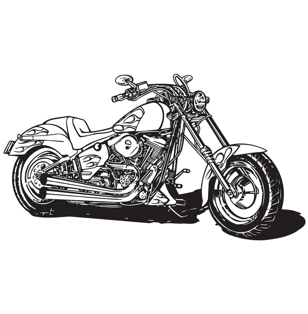 harley motorcycle coloring page free coloring pages