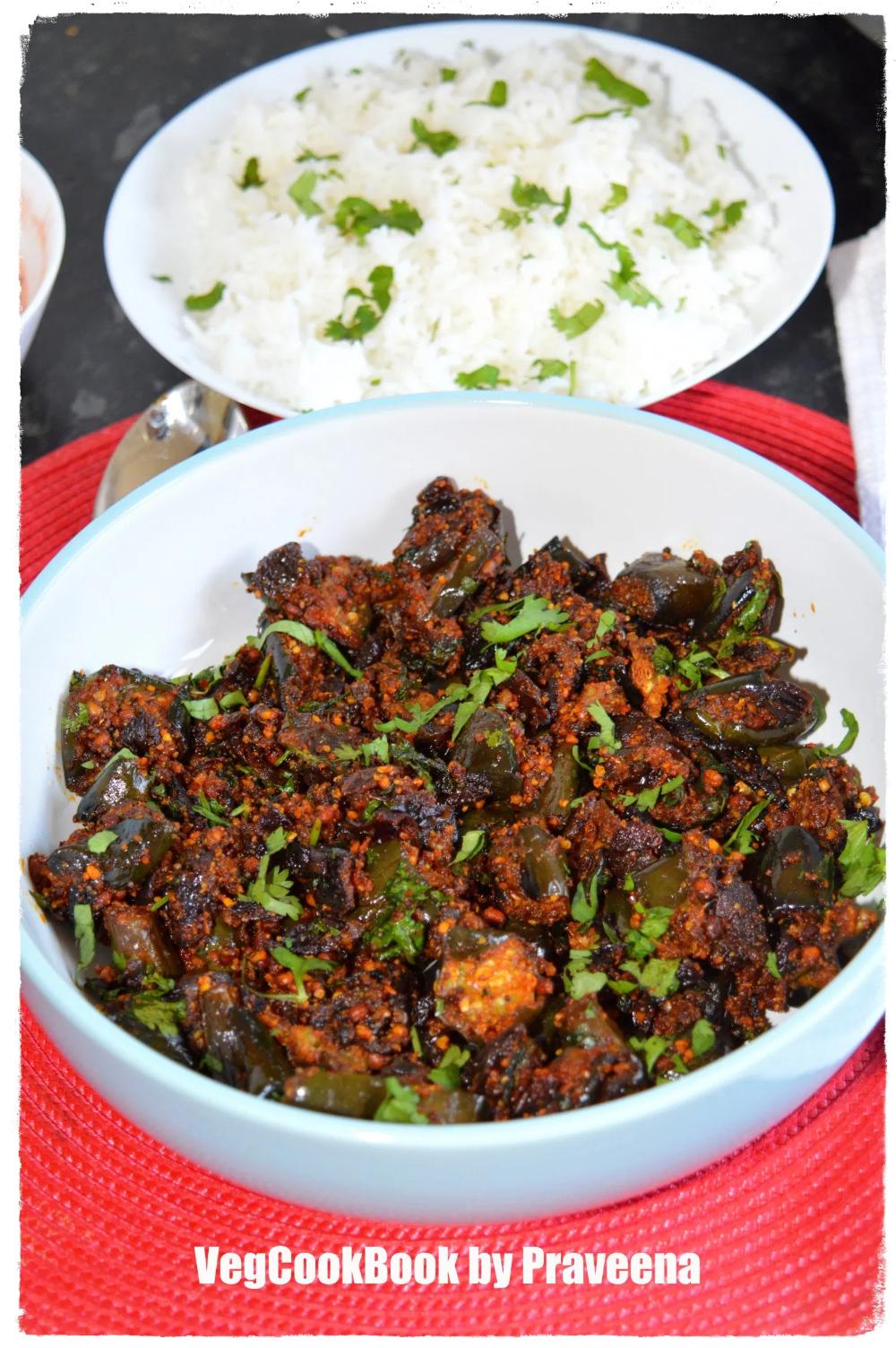Vankaya Podi Koora Eggplant Dry Curry Air Fryer Stove Top Eggplant Recipes Easy Vankaya Recipe Eggplant Recipes