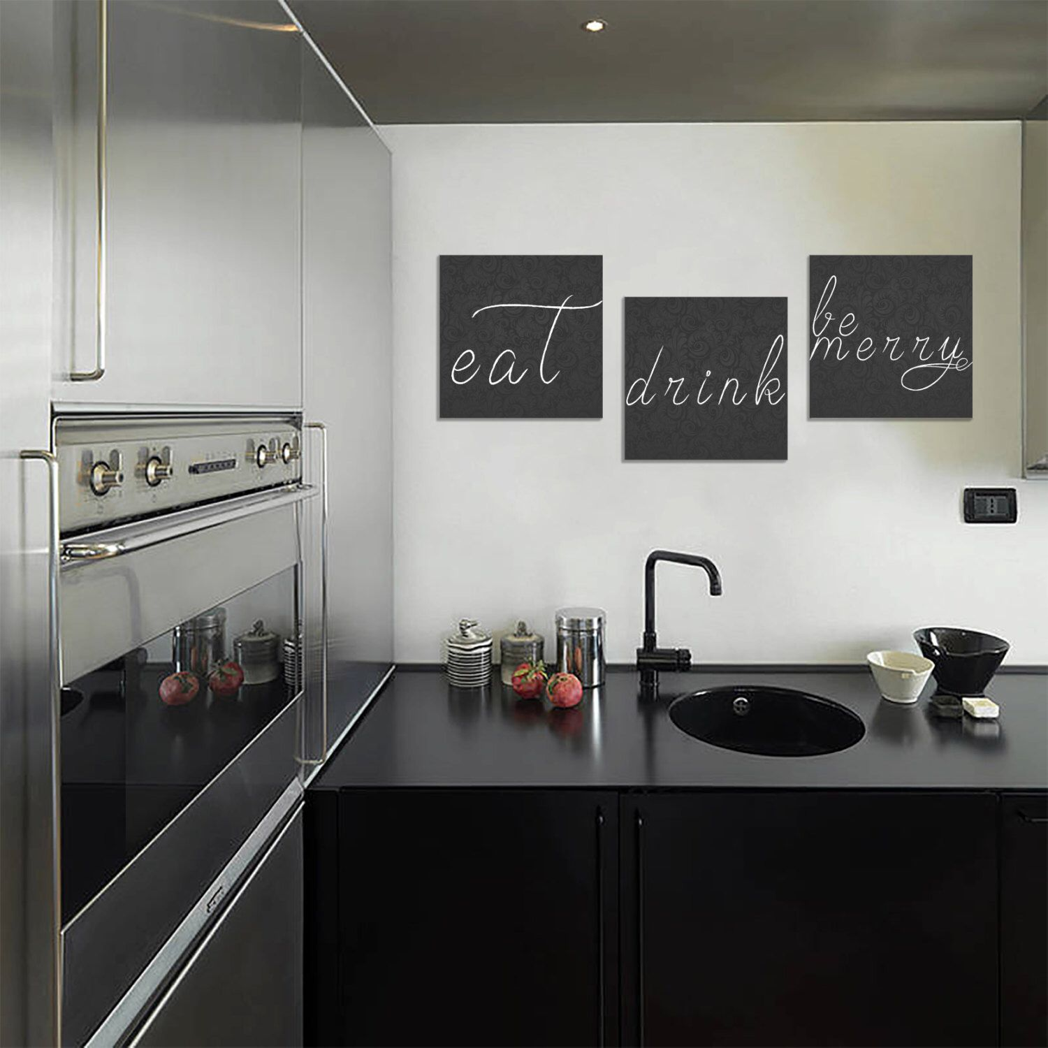 Eat drink be merry home decor art canvases x