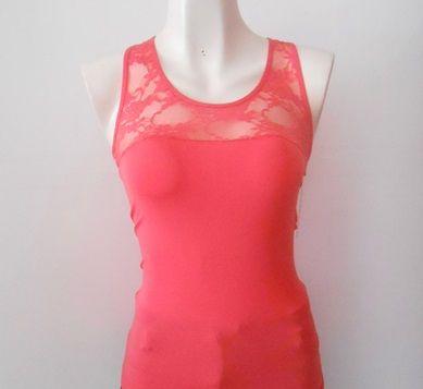 #Blusa #coral con encaje, super #chic