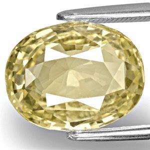 7.20-Carat Unheated Eye-Clean Yellow Sapphire from Ceylon (GIA)