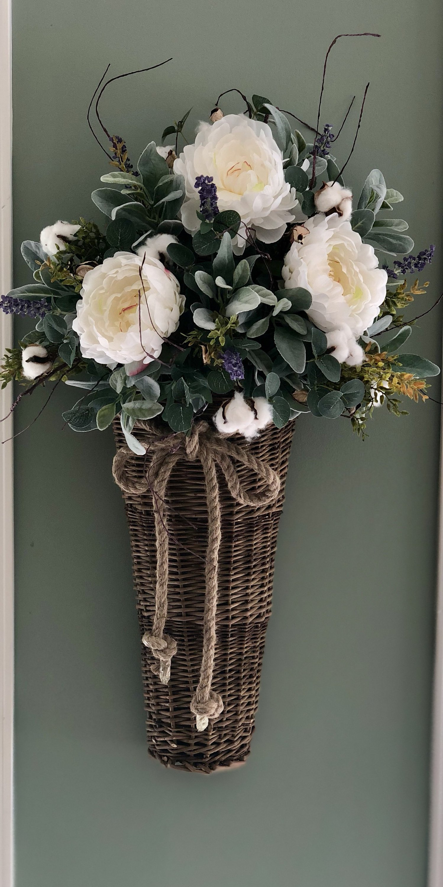 The Sarah Oversized Wall Hanging Basket In 2020 Rustic