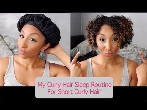 My Curly Hair Sleep Routine For Short Curly Hair How To Maintain Next Day Curls Biancareneeto Short Curly Hair Curly Hair Styles Overnight Curls Short Hair