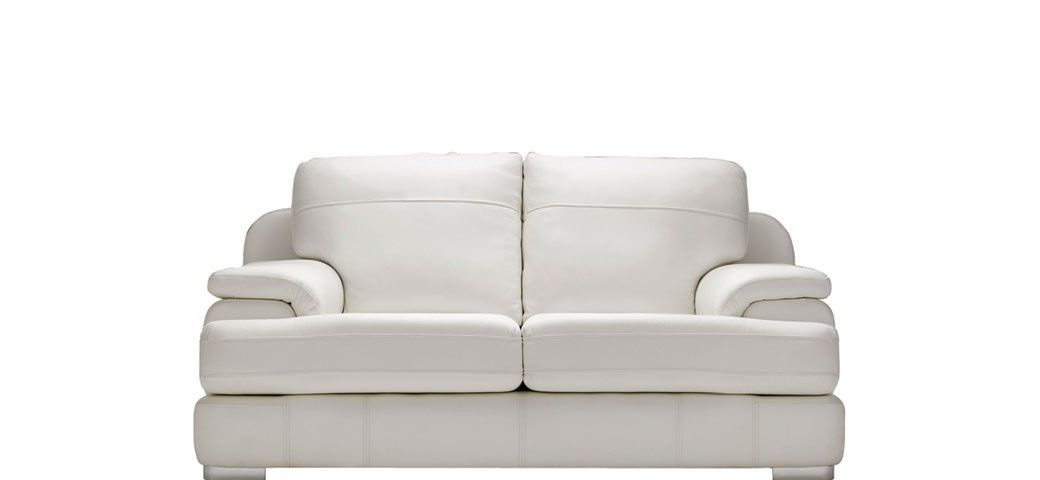 The Marino 2 Seater Leather Sofa By Sofasofa In White Is The Perfect Sofa  To Sink