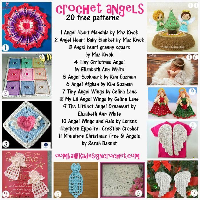 Crochet Angels – 20 Free Patterns   granny   Pinterest