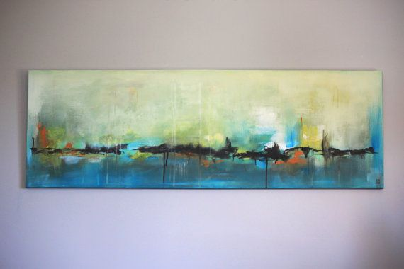 Peinture Abstraite Originale Acrylique Sur Toile Tableau