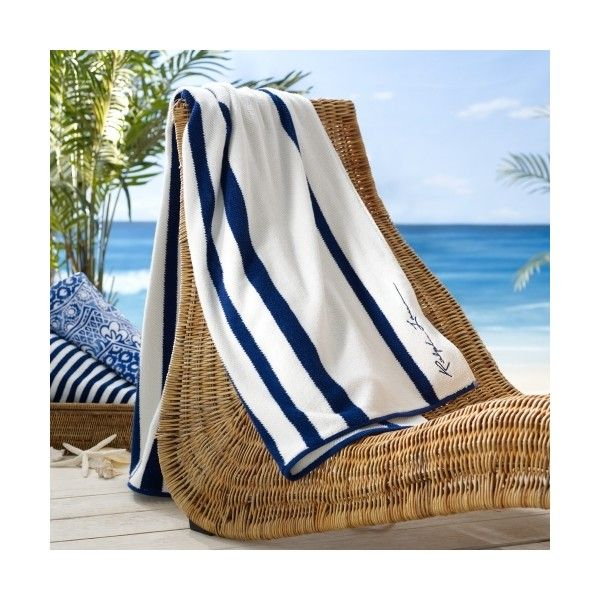 Ralph Lauren Home Ticking Striped Beach Towel 125 Found On