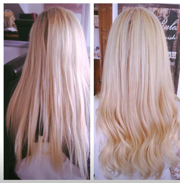 Balmain Hair Extensions Before And After Filled In The Thin Gaps