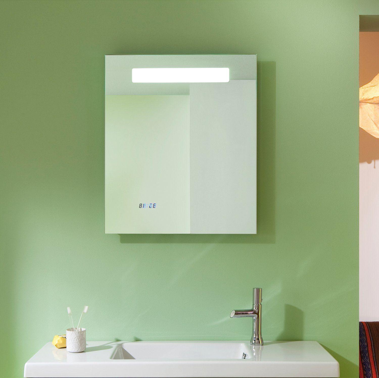 miroir salle de bain r tro clairage led horloge et antibu sanijura. Black Bedroom Furniture Sets. Home Design Ideas