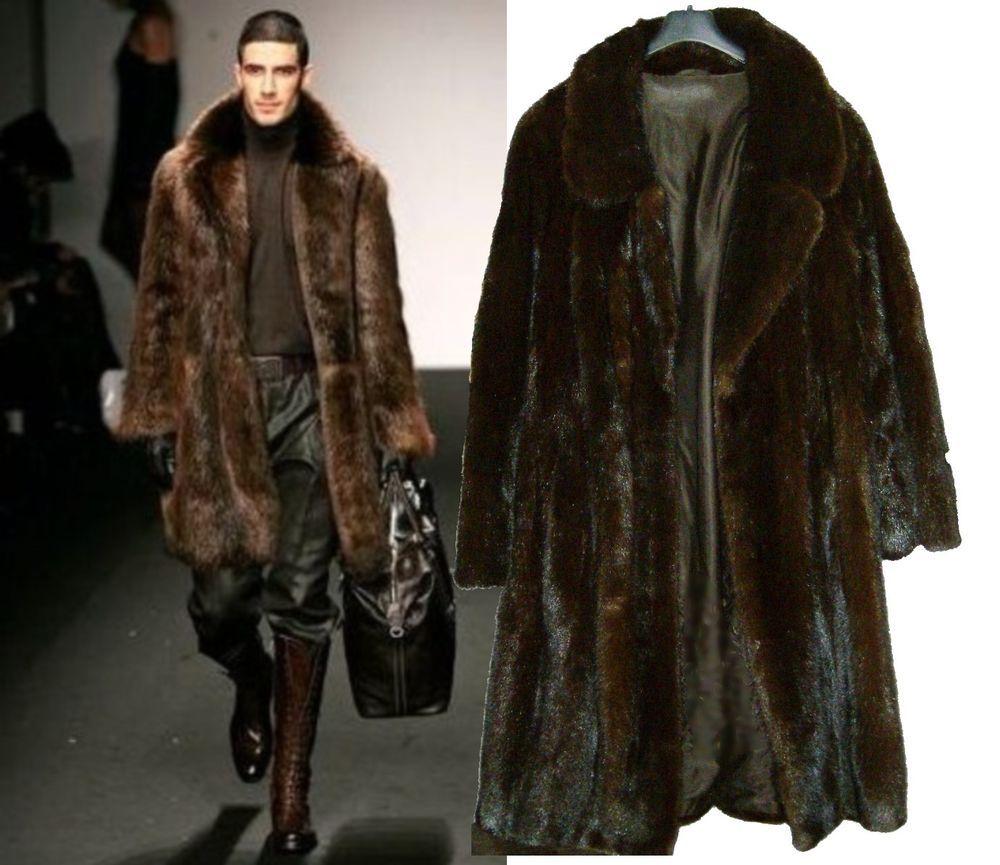 5K$ XXL MINT REAL GENUINE ROYAL SCAN MINK FUR 2-FACE MODERN PARKA COAT MINT lot in Kleidung &…