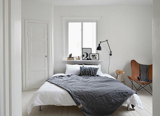 Sno stilen Svartvitt sovrum - Trendenser Bedroom/Sovrum