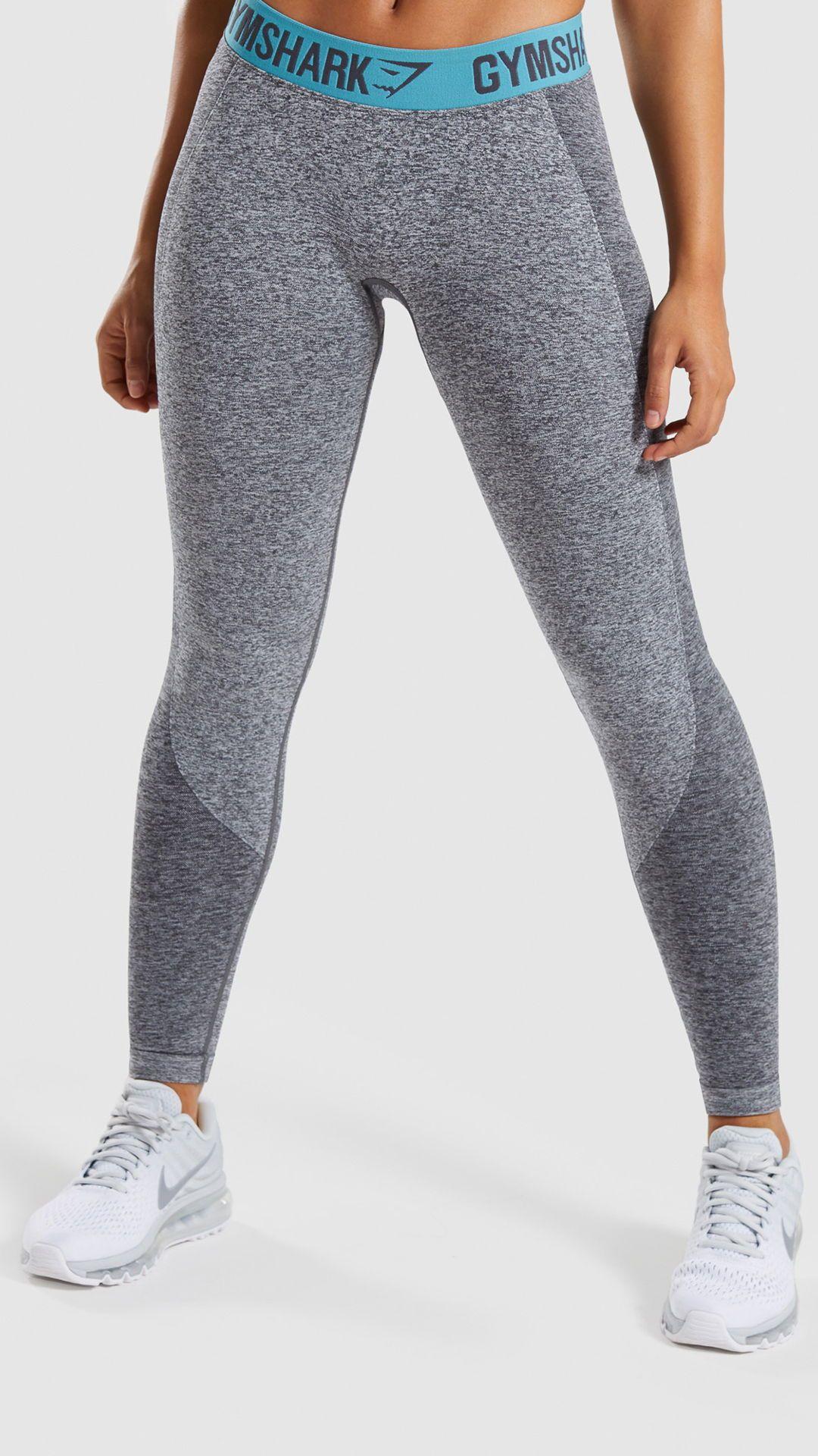 9134c13dd4cda Gymshark Flex Cropped Leggings Charcoal MarlDusky Teal in