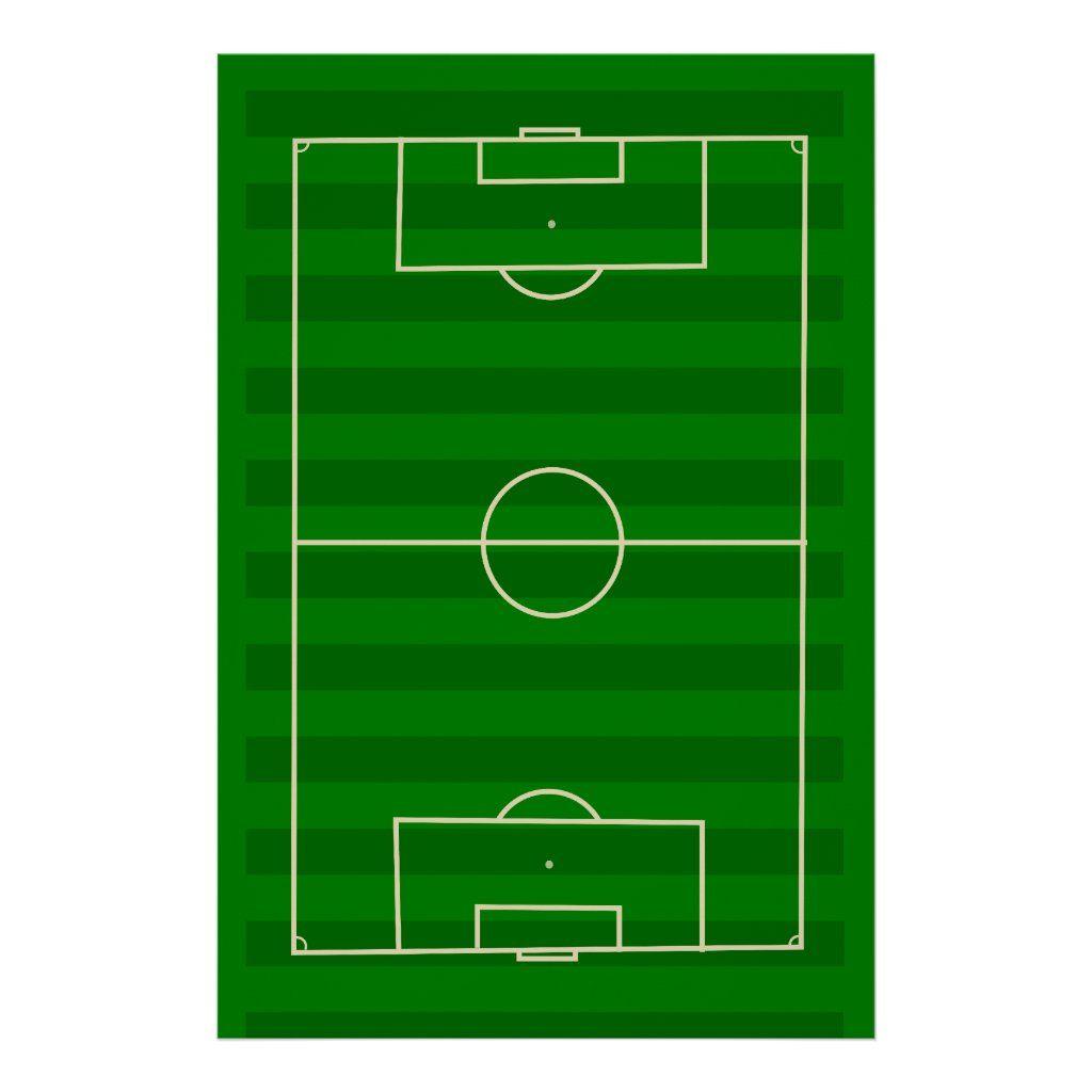Soccer Field Poster Zazzle Com In 2020 Soccer Inspiration Soccer Field Soccer