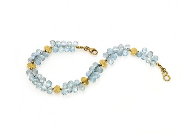 Jerry Szor - Aquamarine Briolette Bracelet - Sort By