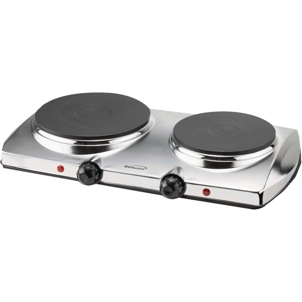Electric Hot Plate Double Burner Safety Shut Off Cast Iron Heat Element Cooking Electric Hot Plate Hot Plate Double Burner