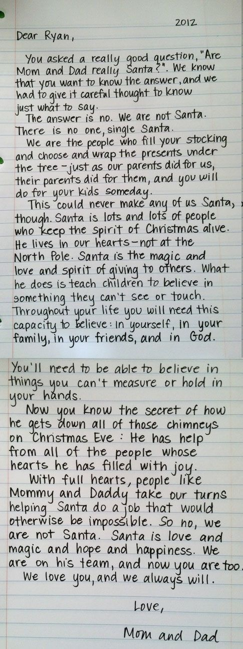 good way to keep santa in christmas and explain him to your